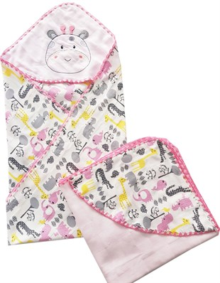 Little Cow 2 Pack Muslin Fabric Blanket
