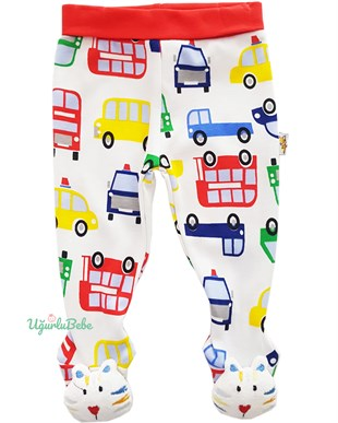 Little Cars Footed Pants
