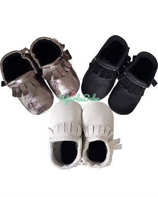 Leather Moccasin 3 Color Available